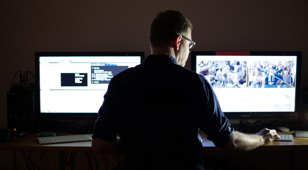 Rene Blümel bei DVD und Blu-Ray Erstellung