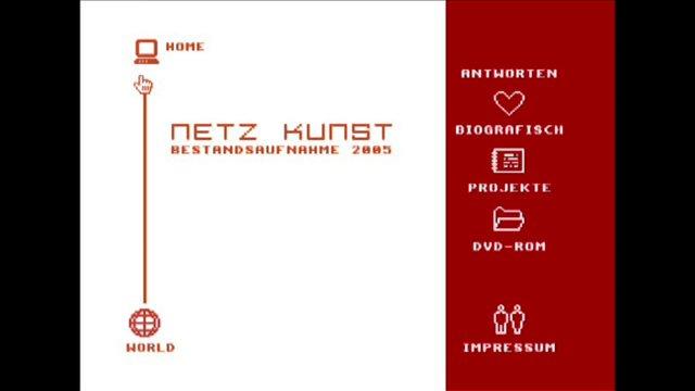 """Netzkunst-DVD"" Uni-Halle Studiengang Multimedia und Autorschaft 2005"